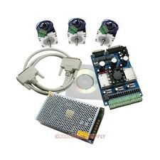 3 Axis 1.5-3A Stepper Driver Cnc Kit Nema23 24Vpsu For Mill Router 175 Oz-In