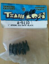 "TEAM LOSI 1.15"" SPRING 25 RATE BLACK     NIB LOSA5110"