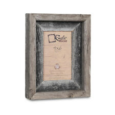 "4x6-2"" Wide Signature Reclaimed Rustic Barn Wood Picture Frame"