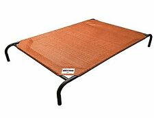 Coolaroo Elevated Pet Dog Cot Bed with Cool Knitted Fabric Large Terracotta