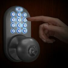 Electronic Entry Door Keyless Lock Digital Keypad Security Code Home Access Knob
