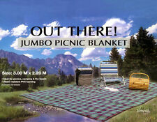 EXTRA LARGE JUMBO PICNIC BLANKET 3m X 2.2m Camping Beach Mat - LIGHT BLUE TY6124