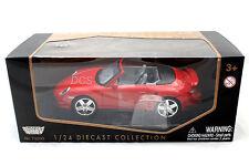 MotorMax PORSCHE 911 TURBO CABRIOLET Red 1/24 Diecast Car 73348RD