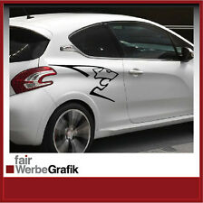 Aufkleber /  Sticker / Seitenbeschriftung / Dekor / Peugeot Löwe / #064