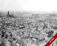 BOMBED OUT COLOGNE GERMANY POST WORLD WAR 2 WWII II PHOTO REAL CANVASART PRINT