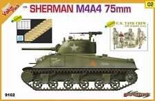 1/35 Sherman M4A4 75mm, DS Track and US Tank Crew, NW Europe - CyberHobby #9102