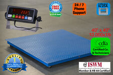 "New 10000x1lb 40""x40"" Floor/Pallet Scale w/High End Indicator Calibrated in USA"