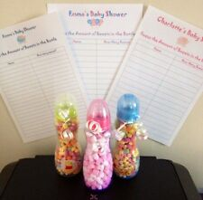 Baby Shower How Many Sweets in the Bottle Game Pink, Blue or Neutral