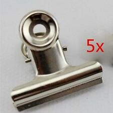 5x Stainless Steel Mighty Clip Bag /Note /Ticket /Drawing Board Clip Clamp Tongs
