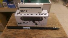 Rode NTG-2 Condenser Microphone + Blimp Windshield System + Boompole  Package