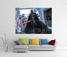 STAR WARS DARTH VADER LIGHT SABRE & STORMTROOPERS GIANT WALL ART PRINT POSTER