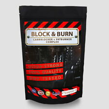 BLOCK&BURN - 100 Kapseln Carbblocker + Fatburner 2in1 White Kidney Chitosan Vit.