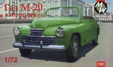 "GAZ-M20 ""POBEDA"" CABRIOLET, SOVIET CAR  1/72 MILITARY WHEELS 7261"