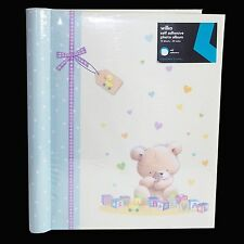 "Baby A4 Photo Album Birthday ""Teddy"" Design – Self adhesive"