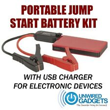 NEW CAR JUMP START CABLE WITH BATTERY AS SEEN ON TV 12v USB CHARGER KIT LED