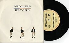 """BROTHER BEYOND - HOW MANY TIMES - 7"""" 45 VINYL RECORD w PICT SLV - 1987"""