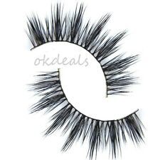 Black Luxury Women 100% Real Mink Natural Thick Eye Lashes False Eyelashes Top