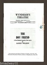 "Anne Rogers ""THE BOY FRIEND"" Anthony Hayes / Sandy Wilson 1954 London Playbill"