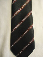 1986 Applause Greeting Garb Father's Day Blue Maroon Striped SuperDad Tie 53""