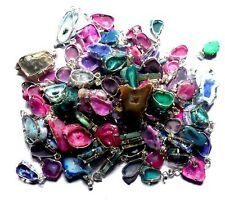 2000 GRAMs DRUZY MIX GEMS 925 STERLING SILVER OVERLAY WHOLESALE PENDANT LOT PC!!