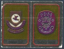 PANINI FOOTBALL 84-#402-A-B-CARDIFF CITY / CARLISLE U TEAM BADGES-SILVER FOILS
