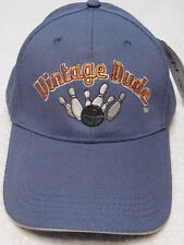 BOWLING BALL & PINS BASEBALL CAP VINTAGE DUDE LAID BACK HAT OAK PATCH GIFTS NWT