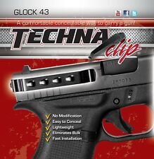 Techna Clip Glock 43 (Right or Left Side) Pocket Holster / Handgun Belt Clip G43
