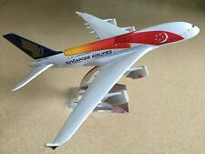 20CM Solid SINGAPORE AIRLINES A380 Passenger Airplane Plane Metal Diecast Model