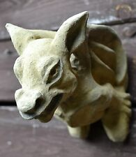 HANGING GARGOYLE WALL PLAQUE FROSTPROOF GOTHIC STONE garden ornament 'MOOSE'