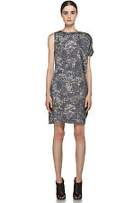 MAISON MARTIN MARGIELA MM6 GRAPHIC GLITTER BLUR CAPE SLEEVE DRESS 6 38 2 £280!