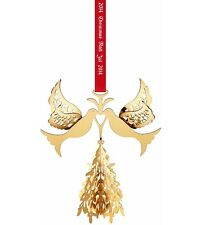 Georg Jensen 2014 Christmas Mobile NIB Annual Ornament 3410214 24-K Gold Plated