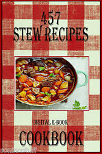 457 Delicious Stew Recipes E-Book Cookbook CD-ROM
