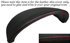 RED STITCH SPEEDO HOOD SURROUND LEATHER SKIN COVER FITS VW POLO 2000-2001