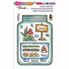 STAMPENDOUS TERRARIUM CLEAR STAMP SET - MAKE FAIRY GARDENS IN A JAR