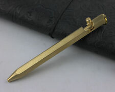Self Defense Tactical Pen Handmade Copper Brass Pen Six-Side Casing 13cm