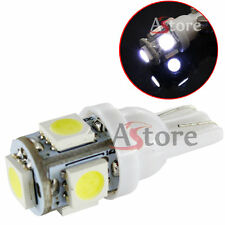 2 Lampade Lampadine LED T10 5 SMD 5050 BIANCO Xenon Posizione W5W