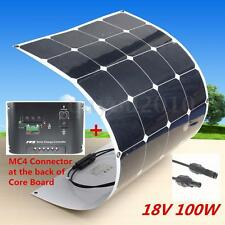 HOT 100W 18V Semi Flexible Mono Energy Solar Panel +10A 12V/24V Solar Controller