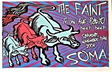 The Faint / TV on the Radio 2004   50cm X 35cm  LINDSEY KUHN  poster SIGNED