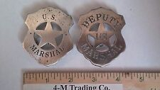 U. S. MARSHAL AND DEPUTY U. S. MARSHAL  (BADGES OF THE  OLD WEST)