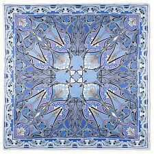 Liberty of London Blue Ianthe Printed Silk Scarf Made In Italy RRP £195