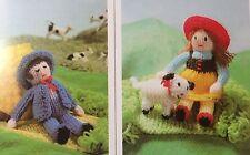 KNITTING PATTERN Jean Greenhowe Knit a Nursery Rhyme Miss Muffet Boy Blue 3 Toys