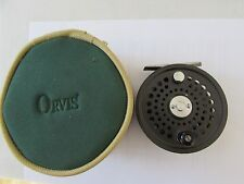 V good orvis battenkill disc england 8/9 trout fly fishing reel + case ''