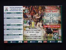 INTERNATIONAL RULES SERIES 1999 AUSTRALIA vs IRELAND GUIDE FIXTURE