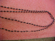 "F5 Vintage wooden beed bead necklace 25"" L"