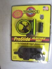TOXONICS PROSLIDE ADJUSTABLE FIBER OPTIC BOW SIGHT W/LEVEL RIGHT HAND