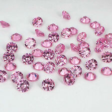 1mm Pink Cubic Zirconia Round Cut Loose Gemstone AAA lot of 1000 stones