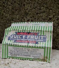 Vtg 40's Wrigley's Juicy Fruit Chewing Gum Wrapper dated 1941 As is Condition
