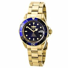 Invicta 8930 Men's Automatic Blue Dial Gold Steel Bracelet Watch