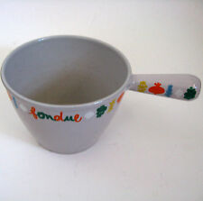 Vintage French 70's Le Creuset Fondue Pot France Cast Iron Enamel