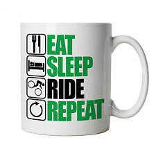 Eat Sleep Ride Repeat Mountain Bike Mug - Freeride Singletrack Downhill MTB